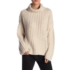 Free People Fluffy Fox Turtleneck Pullover Sweater